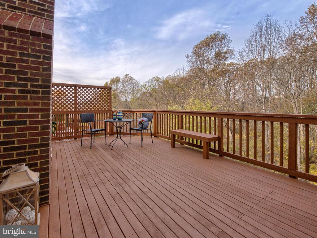 Deck with a beautiful view. - 3918 SWEET BRIAR LN, FREDERICK