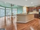 Expansive kitchen with extra large center island. - 3918 SWEET BRIAR LN, FREDERICK