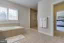 Owner's Bathroom w/Separate Tub and Roman Shower - 9071 BEAR BRANCH PL, FAIRFAX