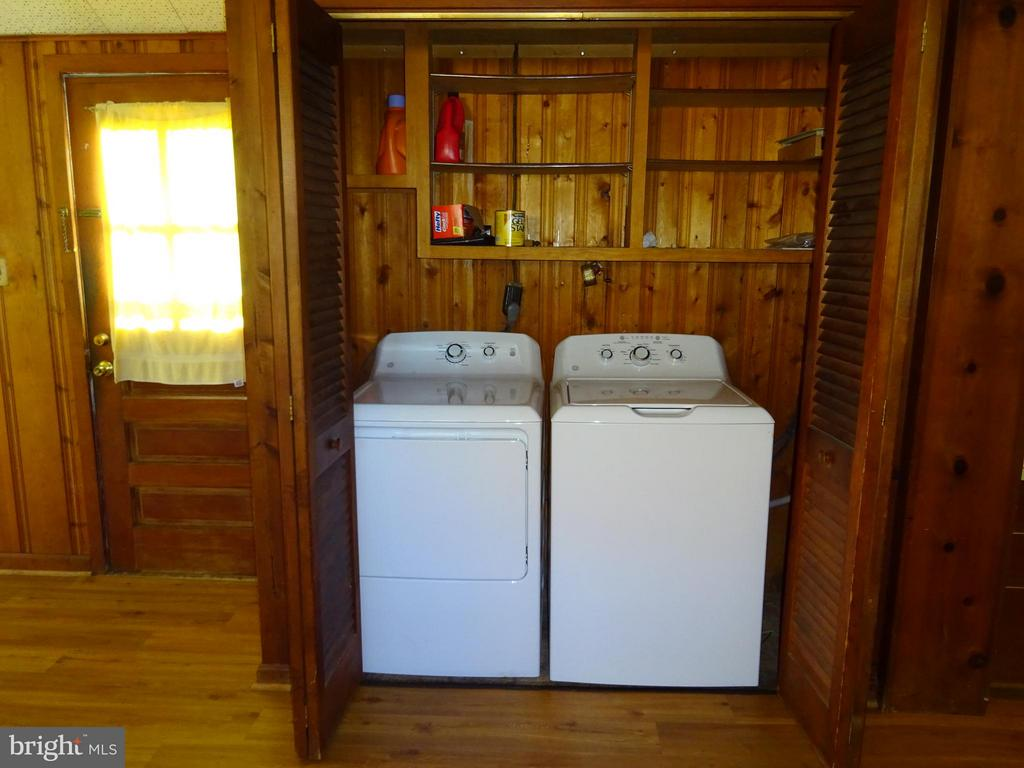 Laundry area with updated washer & dryer - 12705 GOULD RD, SILVER SPRING