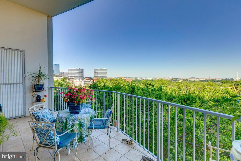 Spacious balcony overlooking city - 1200 NASH ST N #551, ARLINGTON