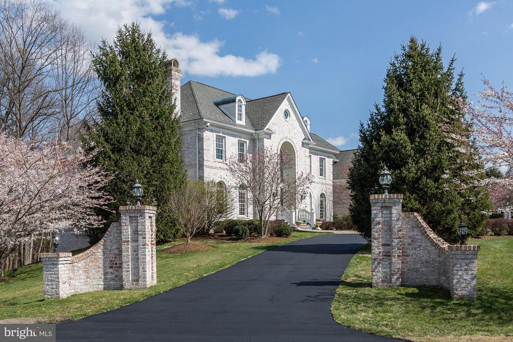 Welcoming Entrance with Italian Waterfall - 11308 HEARTH CT, GREAT FALLS
