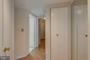 Hallway from bedroom to the front - 2100 LEE HWY #220, ARLINGTON