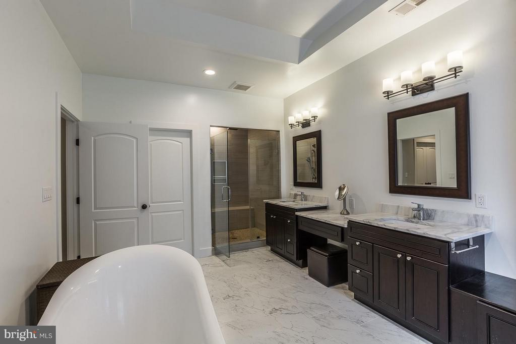 Private sinks, custom shower, and soaking tub - 7337 PAXTON RD, FALLS CHURCH