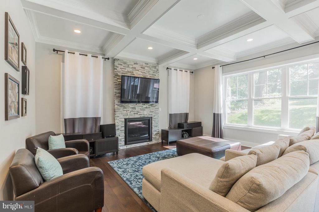 Beautiful coffered ceiling, complete with gas FP - 7337 PAXTON RD, FALLS CHURCH