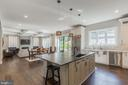 Enjoy this large Island with custom exotic stone ! - 7337 PAXTON RD, FALLS CHURCH