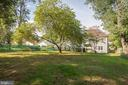 Large rectangular lot! View from the backyard! - 7337 PAXTON RD, FALLS CHURCH