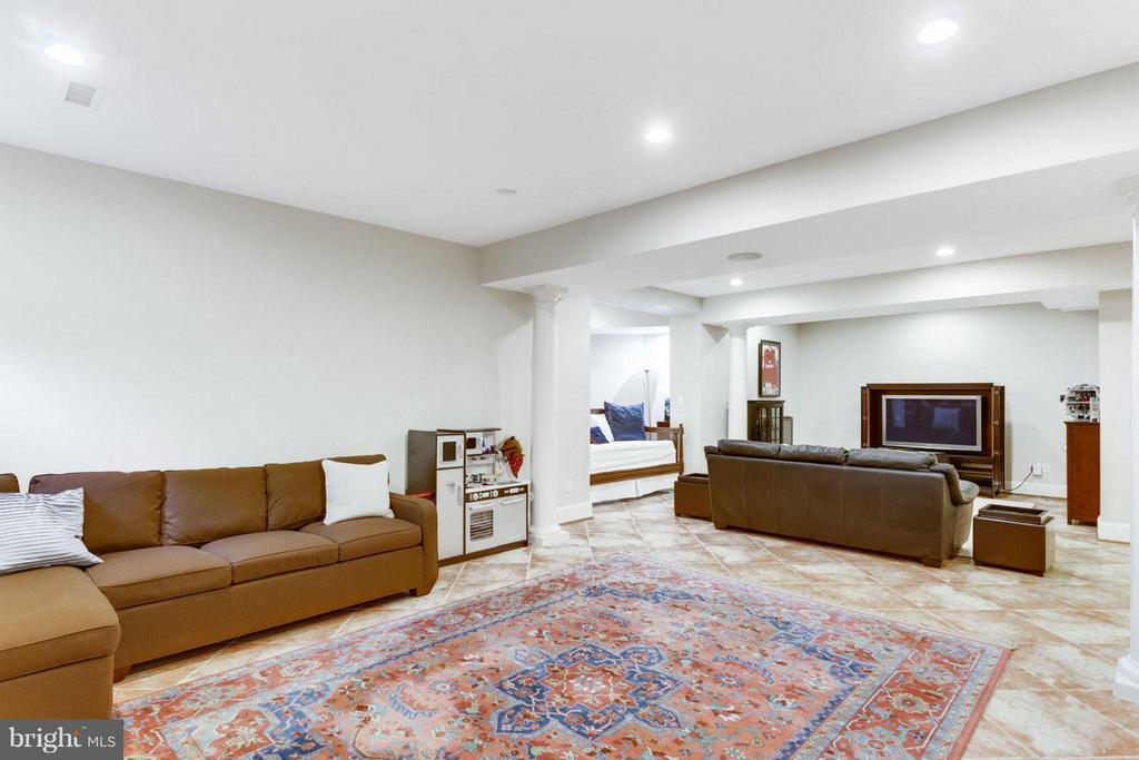 Huge Recreation Room with Media Area - 2138 PATRICK HENRY DR, ARLINGTON