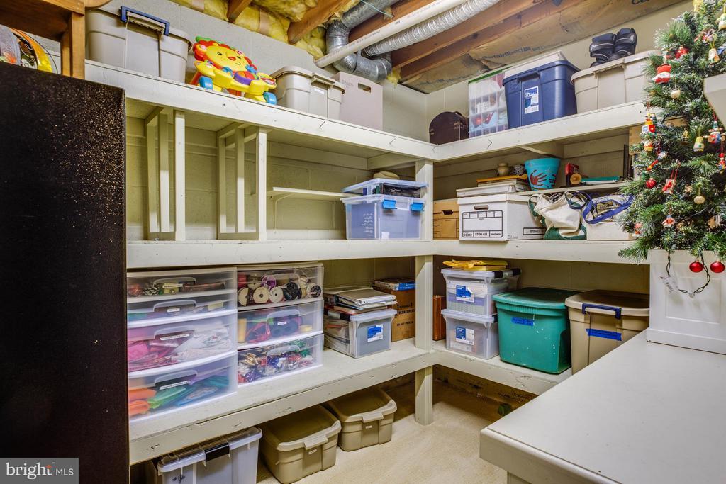 Fantastic Storage room w/shelving - 609 LANCASTER ST, FREDERICKSBURG