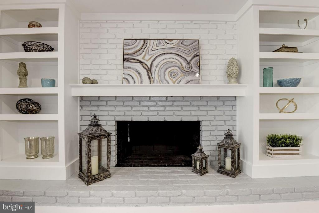 Fireplace with Built In Bookshelves - 10526 HUNTERS VALLEY RD, VIENNA