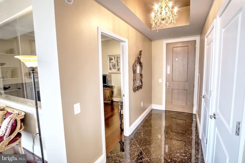 Entrance Foyer with Marble Floor - 11990 MARKET ST #1811, RESTON