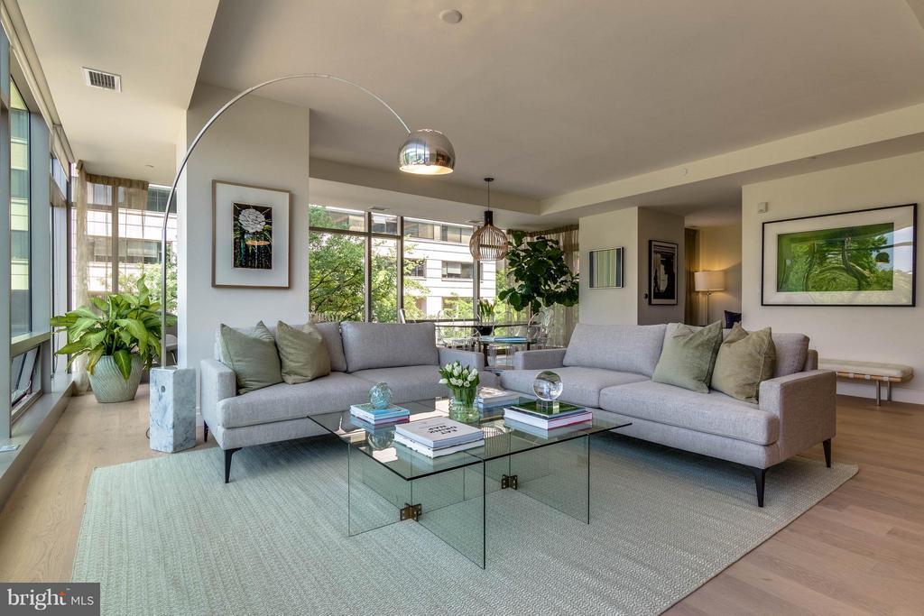 Living Room - 2501 M ST NW #408, WASHINGTON