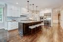 Gourmet kitchen with island and pantry - 2509 FOWLER ST, FALLS CHURCH