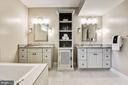 separate sinks and plenty of storage - 2509 FOWLER ST, FALLS CHURCH