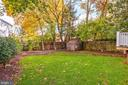 lovely backyard with shed for extra storage - 2509 FOWLER ST, FALLS CHURCH