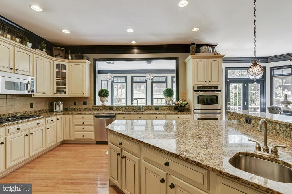 Gourmet kitchen w/ granite, SS & cabs. - 27744 PADDOCK TRAIL PL, CHANTILLY