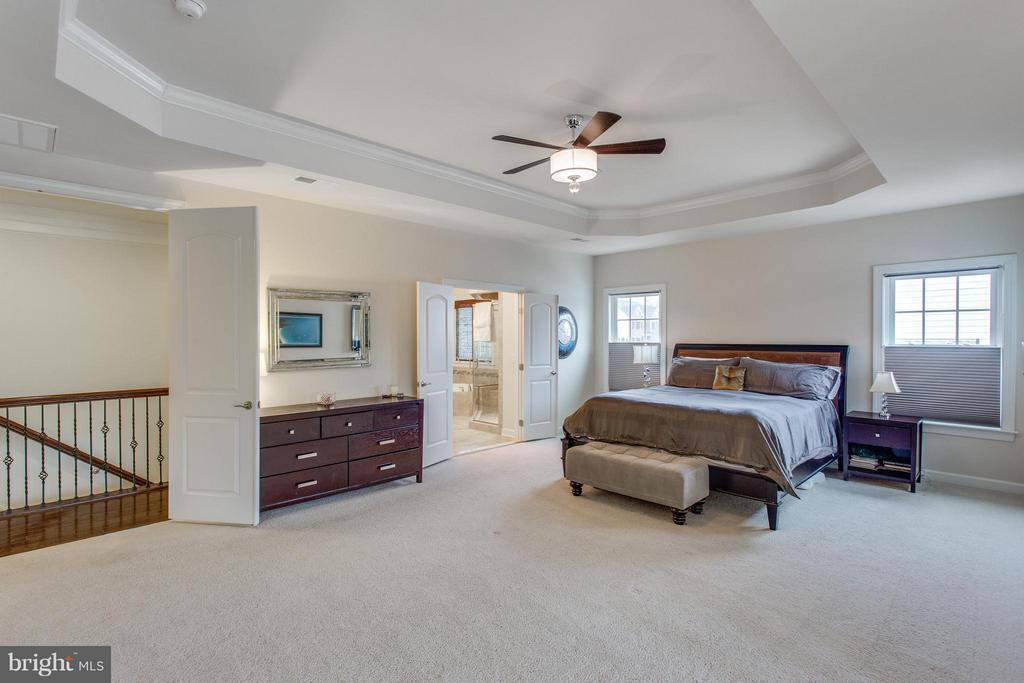 Master suite with sitting room and balcony - 9427 FERRY LANDING CT, ALEXANDRIA