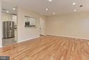 Wide open floor plan with recessed lighting - 1700 LAKE SHORE CREST DR #15, RESTON