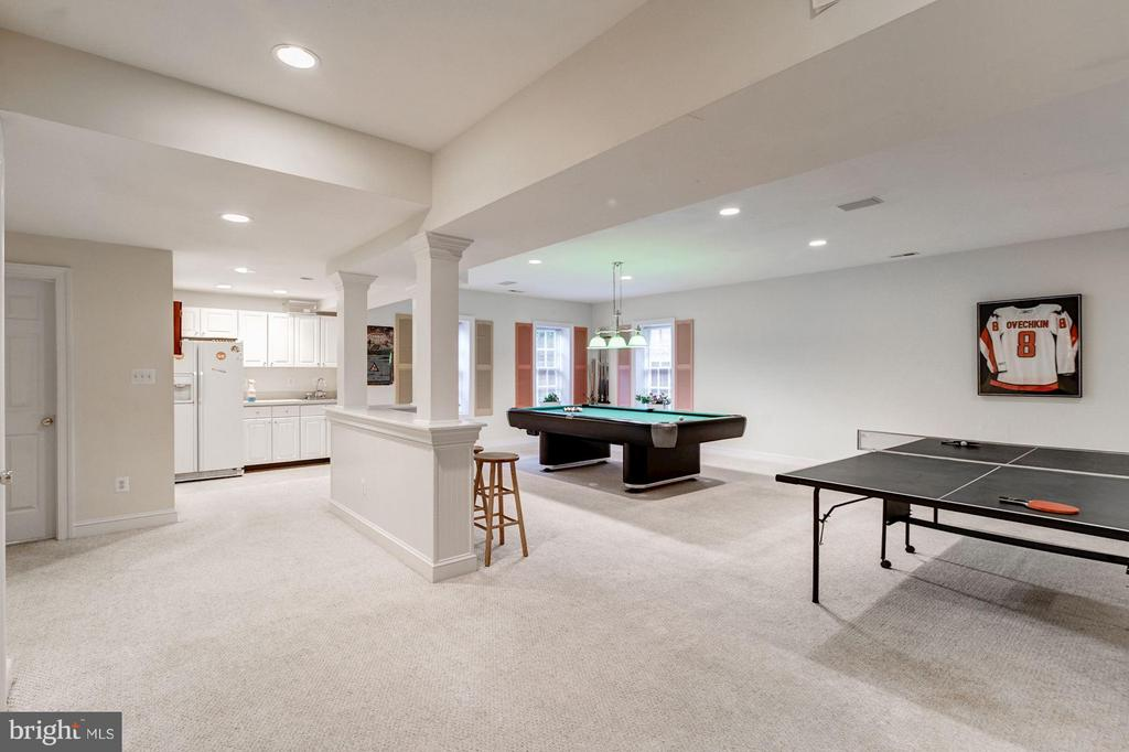 Large open rec room with kitchenette,lots of light - 3013 DICKERSON ST, ARLINGTON