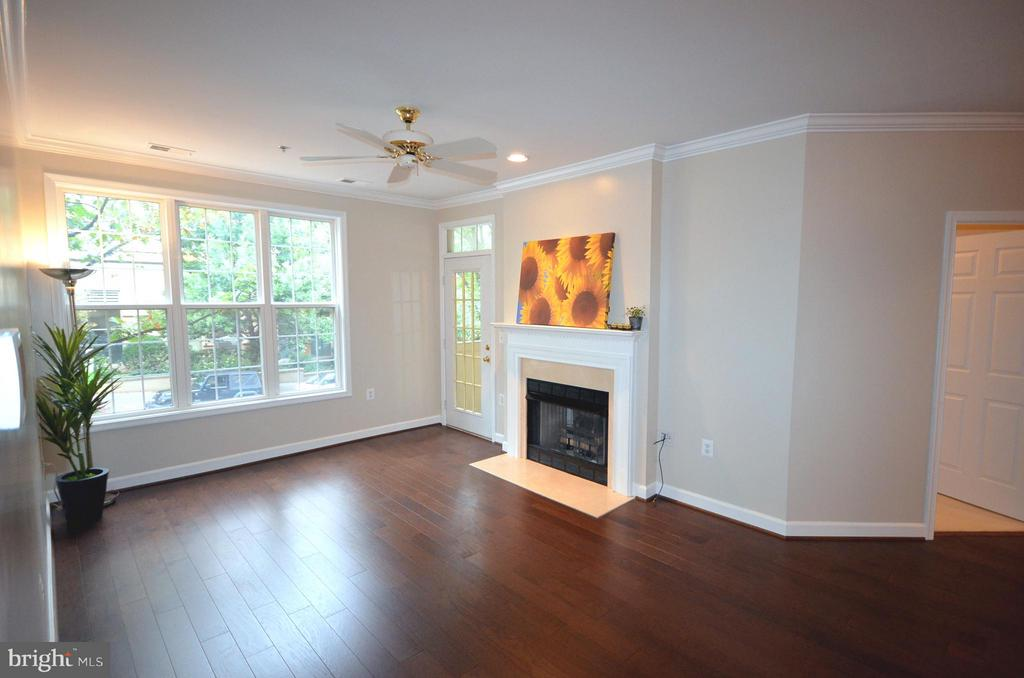 So much natural light with a gas fireplace - 2330 14TH ST N #201, ARLINGTON