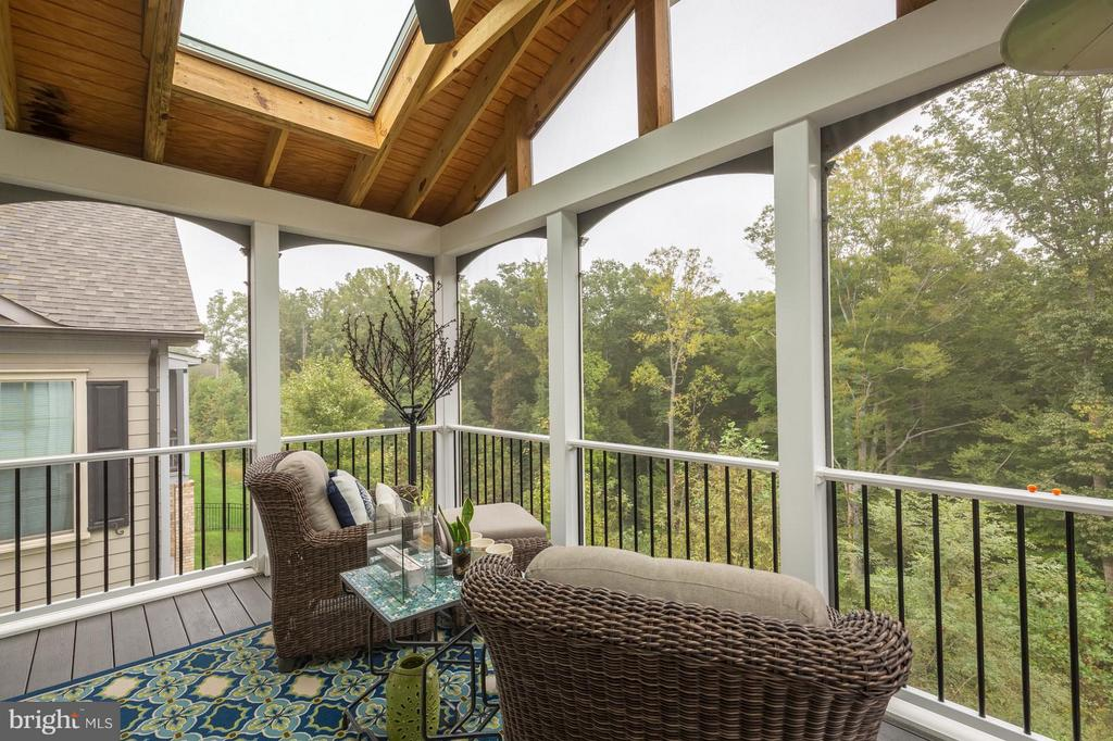 Ah... a screened porch offering a wooded view - 17041 SILVER ARROW DR, DUMFRIES