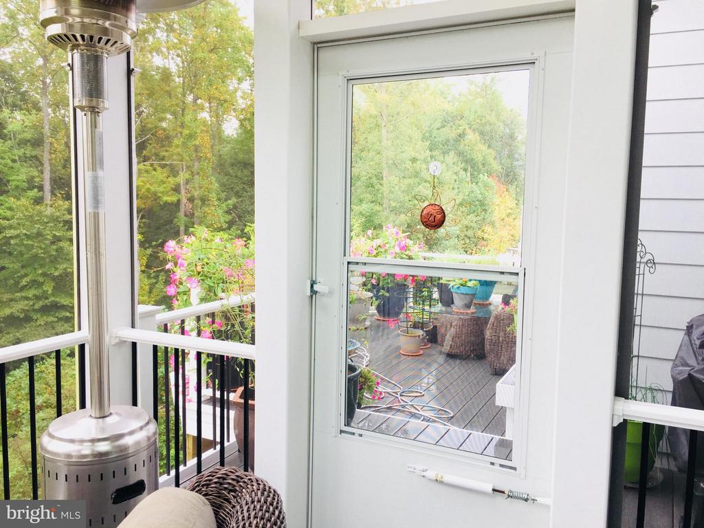 Door to the sun deck - 17041 SILVER ARROW DR, DUMFRIES