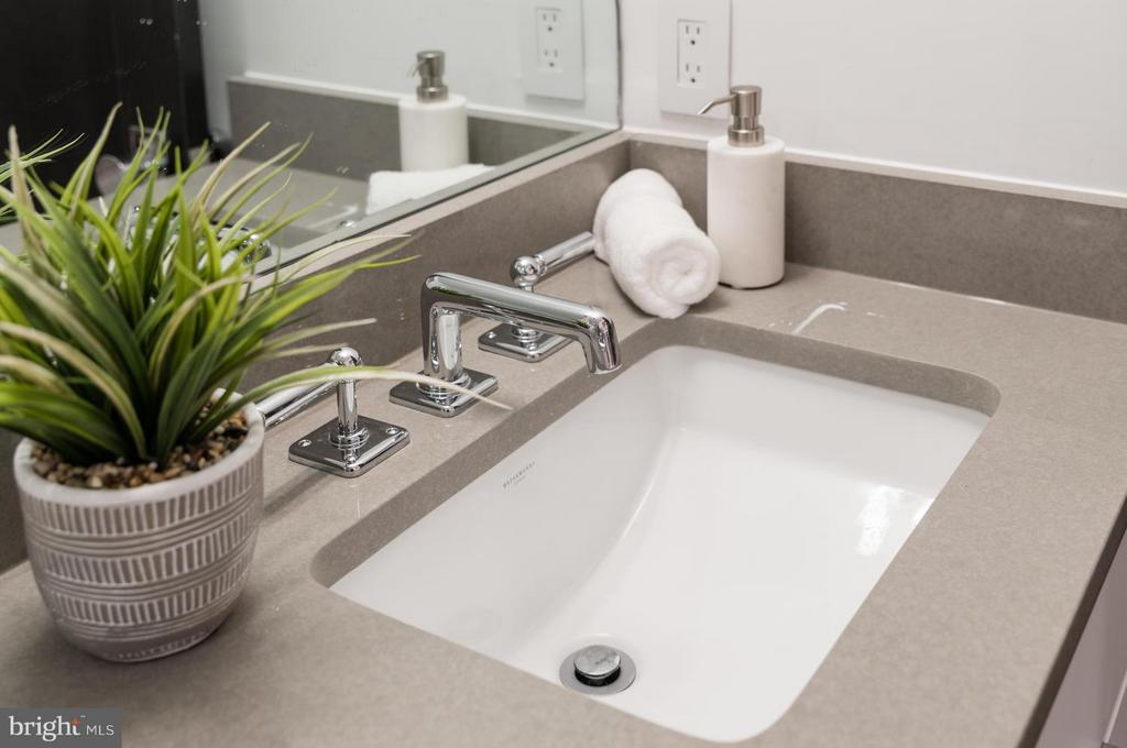 Waterworks fixtures and gray Quartz counters - 1524 18TH ST NW #1, WASHINGTON