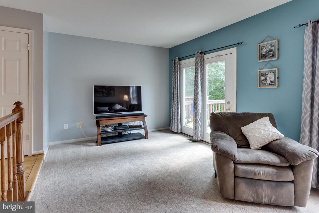 Step down to large bright living room - 4253 FOX LAKE DR, FAIRFAX