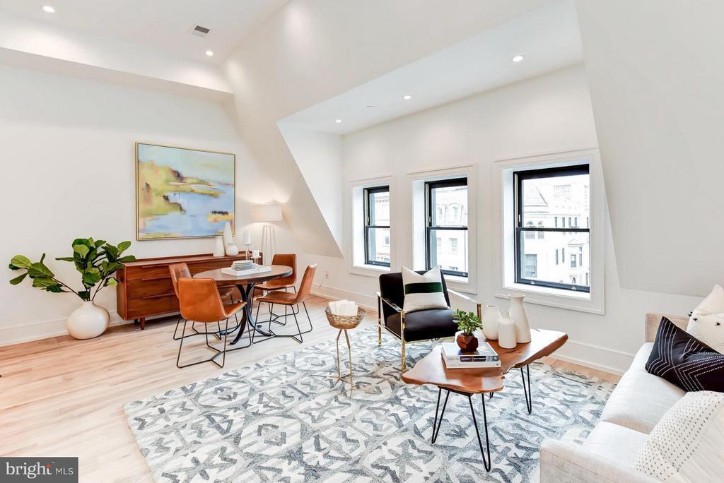 Living Room - 1524 18TH ST NW #PENTHOUSE, WASHINGTON