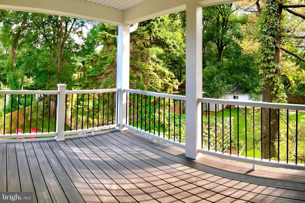 Covered Deck off Master Bedroom - 3151 ANNANDALE RD, FALLS CHURCH