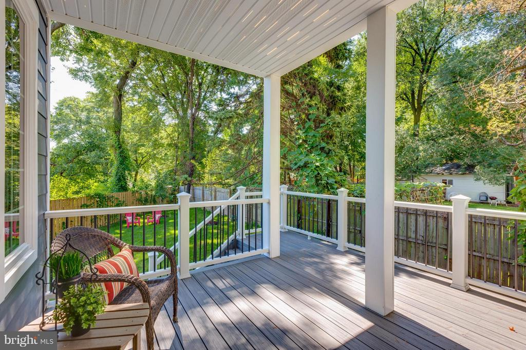 Private Deck off FR  thru French Doors - 3151 ANNANDALE RD, FALLS CHURCH