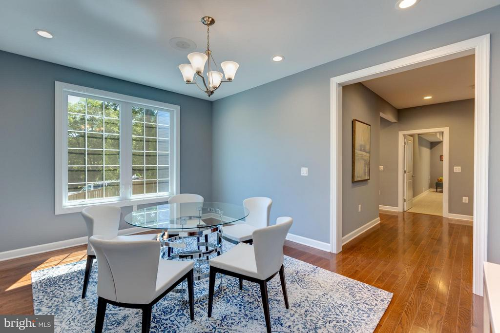 Formal Dining Room with view towards Hallway/Foyer - 3151 ANNANDALE RD, FALLS CHURCH