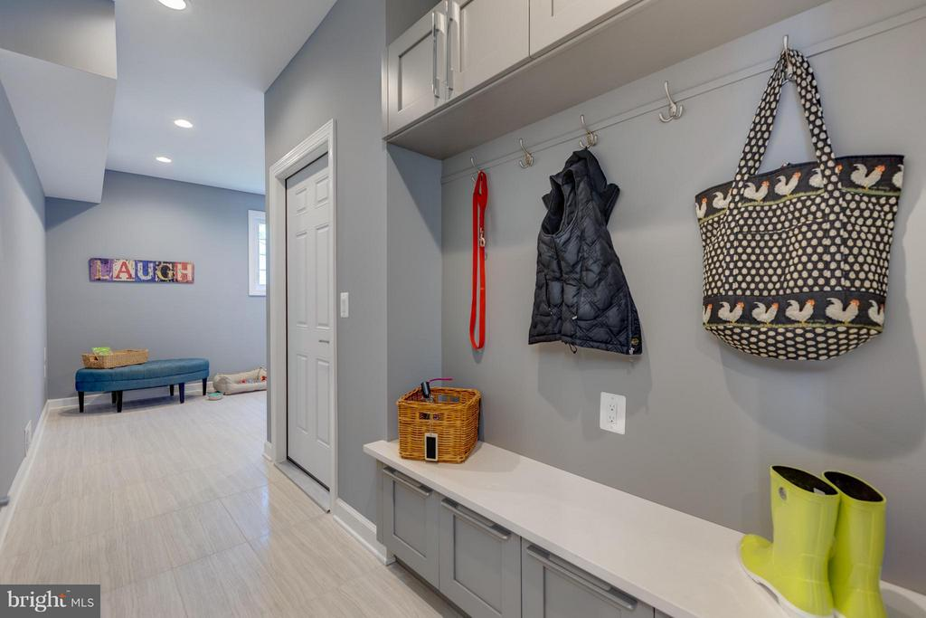 Mud Room with LTV Flooring - 3151 ANNANDALE RD, FALLS CHURCH