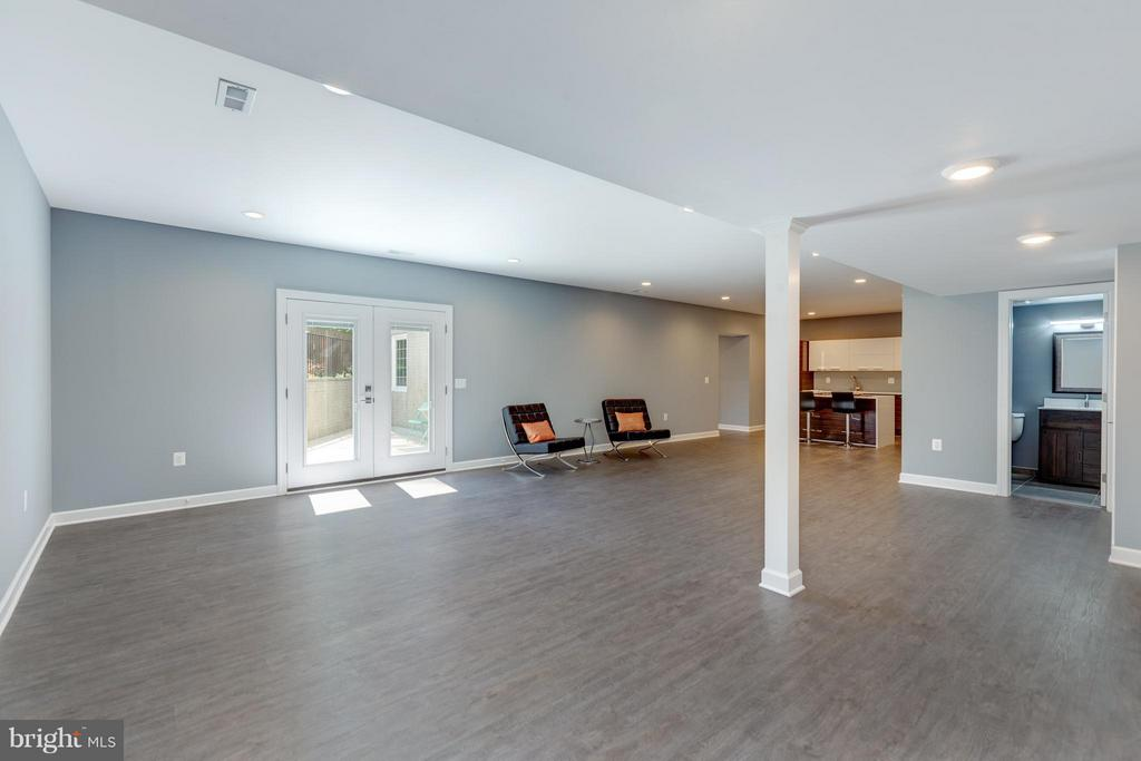 /recreation Room with  LVT Wood Flooring - 3151 ANNANDALE RD, FALLS CHURCH