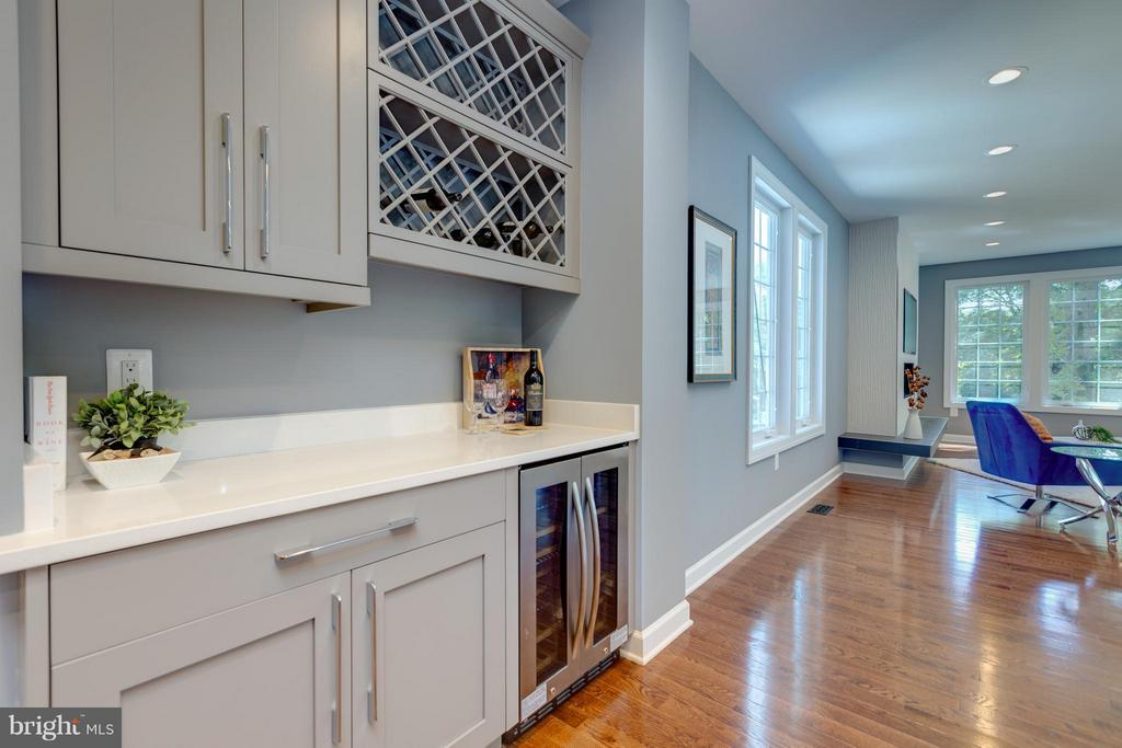 Butler Pantry with Wine Cooler - 3151 ANNANDALE RD, FALLS CHURCH