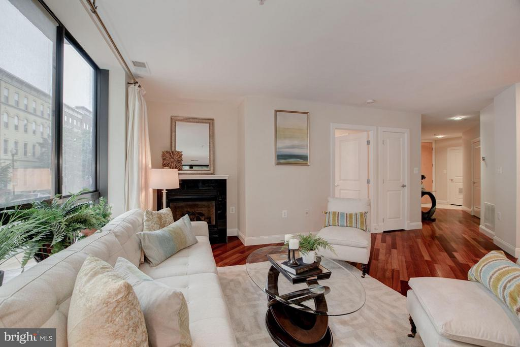 Large Living Room with gas fireplace - 1200 HARTFORD ST N #112, ARLINGTON