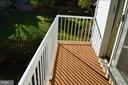 Balcony off 2nd bedroom. - 3804 14TH ST N, ARLINGTON