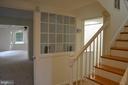 End of the entry hall, elegant paned glass windows - 3804 14TH ST N, ARLINGTON
