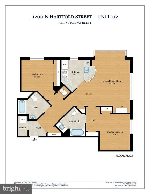 Floor Plan - 1200 HARTFORD ST N #112, ARLINGTON