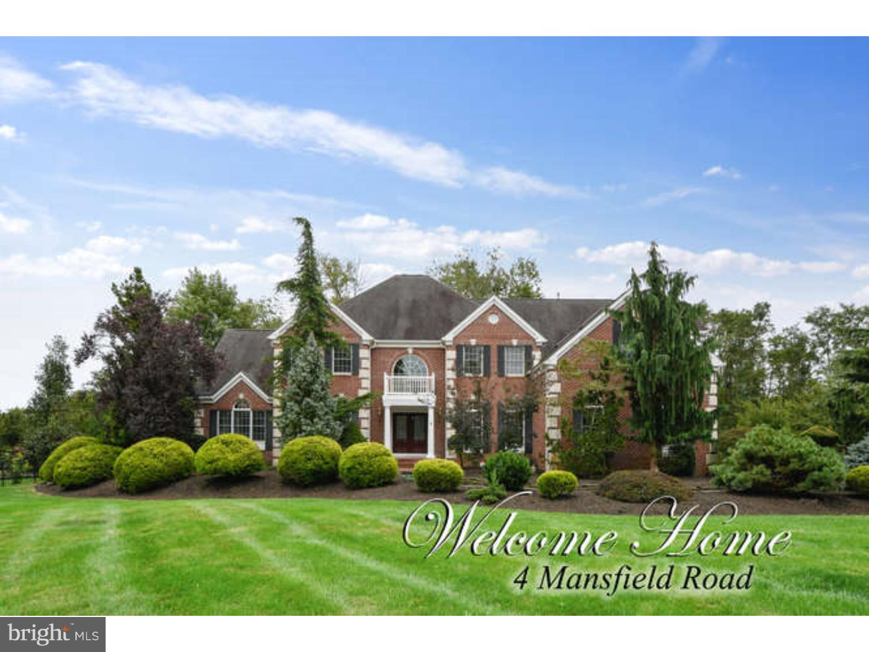 Maison unifamiliale pour l Vente à 4 MANSFIELD Road Princeton, New Jersey 08540 États-UnisDans/Autour: Franklin Township