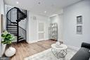 Family Room, Spiral Staircase to Private Roofdeck - 210 P ST NW #UNIT #3, WASHINGTON