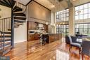 Floating stairwell means more living space - 1600 CLARENDON BLVD #W301, ARLINGTON
