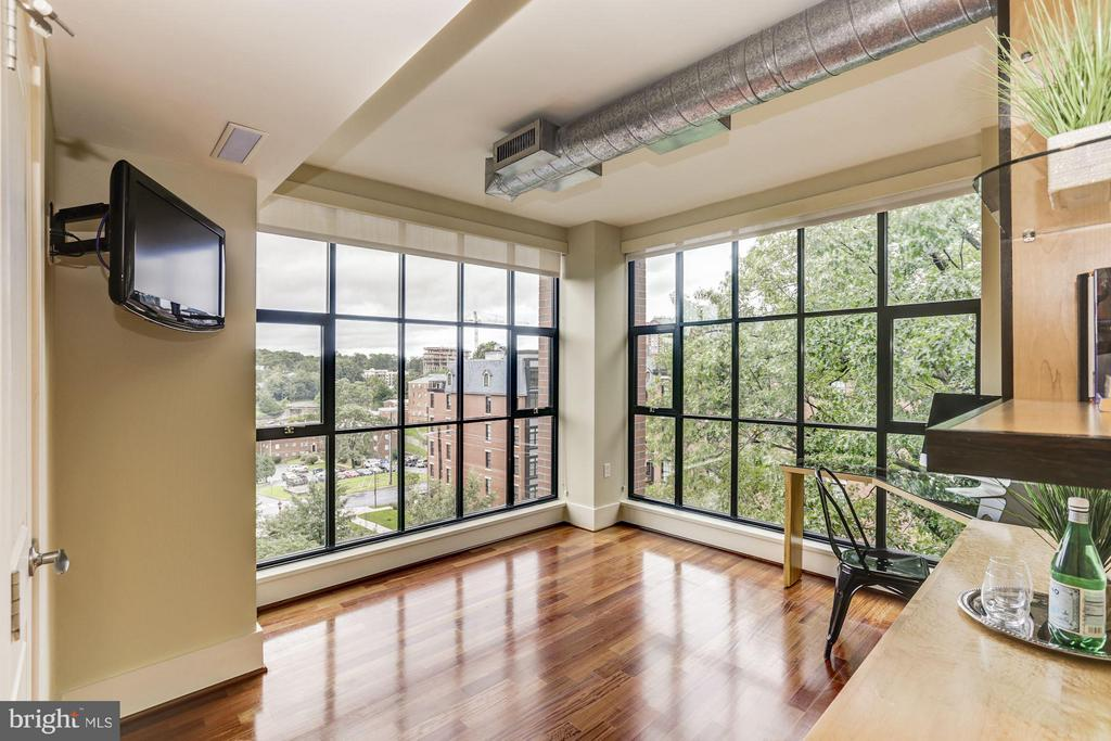 Walls of windows in the Bedroom/Office - 1600 CLARENDON BLVD #W301, ARLINGTON