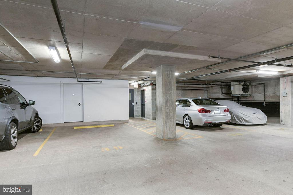 Two assigned parking spaces in front storage room - 1600 CLARENDON BLVD #W301, ARLINGTON