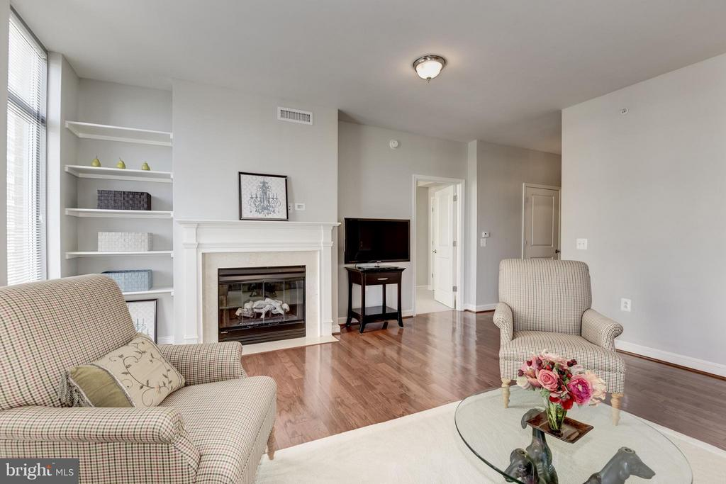 Build in Bookcase and Fireplace - 11990 MARKET ST #405, RESTON