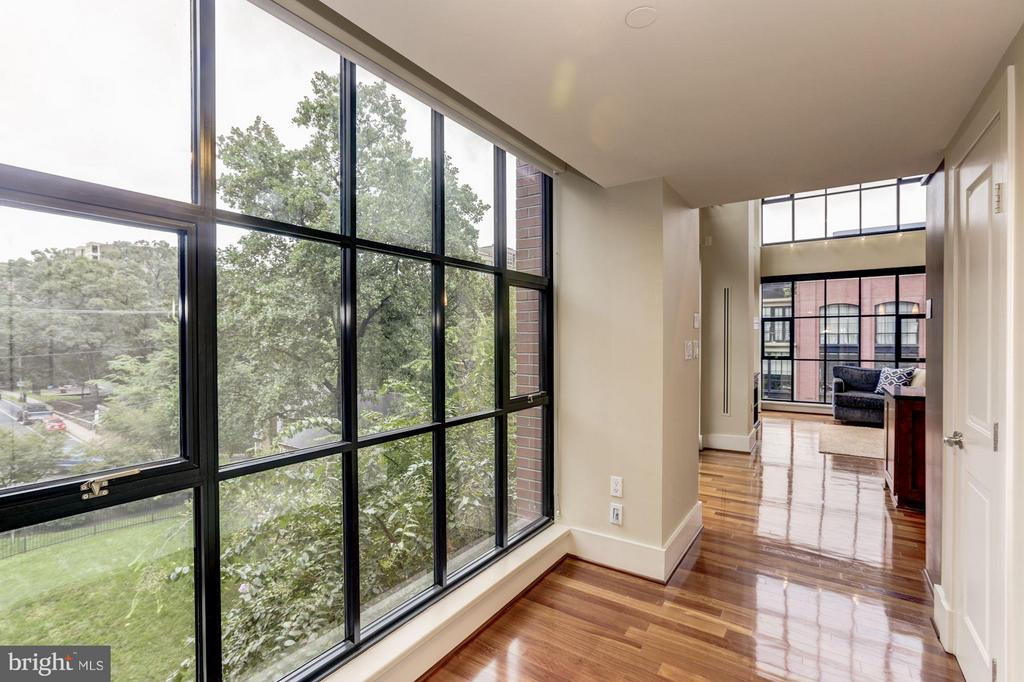 Enter into a green and lush view from the foyer - 1600 CLARENDON BLVD #W301, ARLINGTON