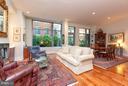 Living Room with 12 foot high ceilings - 601 FAIRFAX ST N #212, ALEXANDRIA