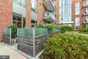 direct access to pool and grounds from terrace - 601 FAIRFAX ST N #212, ALEXANDRIA