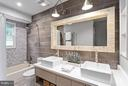 Updated Modern Hall Bath - 10658 CANTERBERRY RD, FAIRFAX STATION