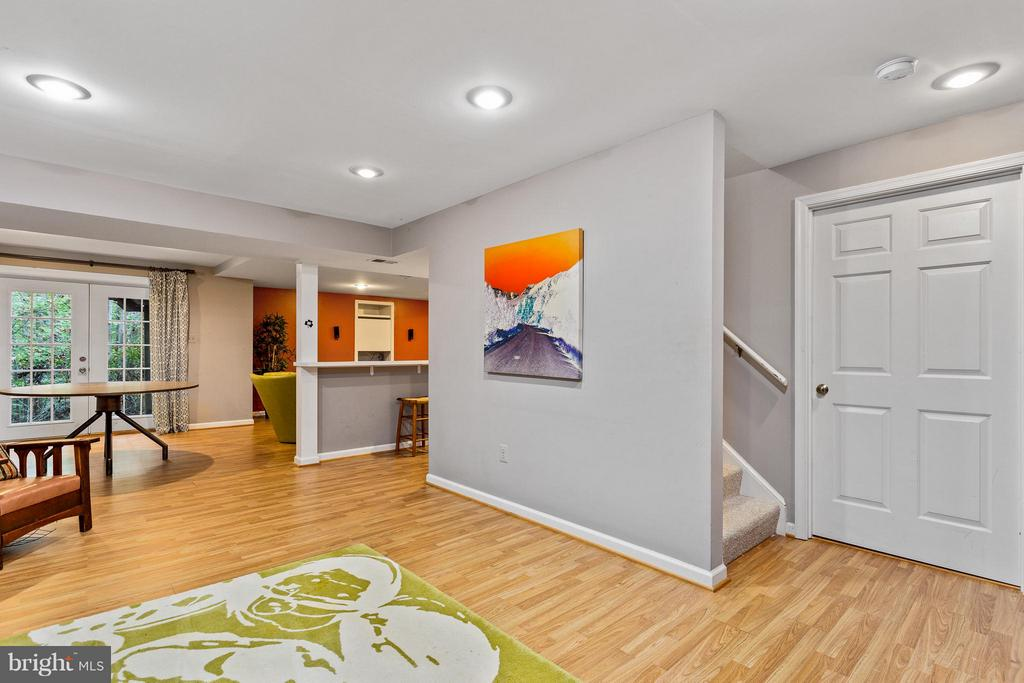 Walkout Recreation Room - 10658 CANTERBERRY RD, FAIRFAX STATION